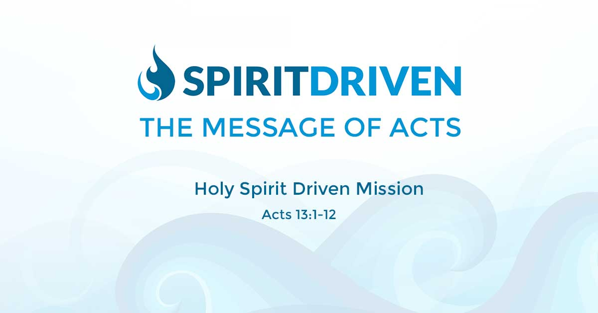 Holy Spirit Driven Mission